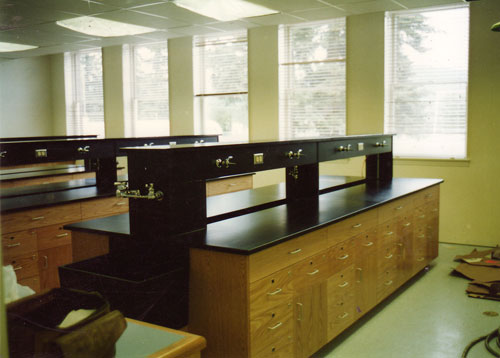 Black Epoxy The Wall Cases Are Shown With Sliding Gl Doors Island Work Bench Is A Combination Of Drawer Units And Cupboards Science Lab